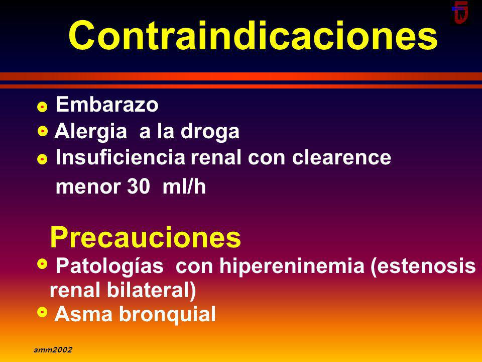 Contraindicaciones Precauciones Embarazo Alergia a la droga