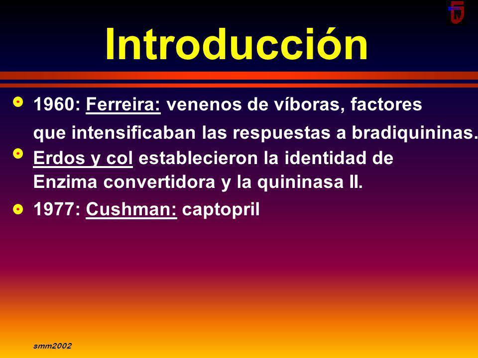 Introducción 1960: Ferreira: venenos de víboras, factores