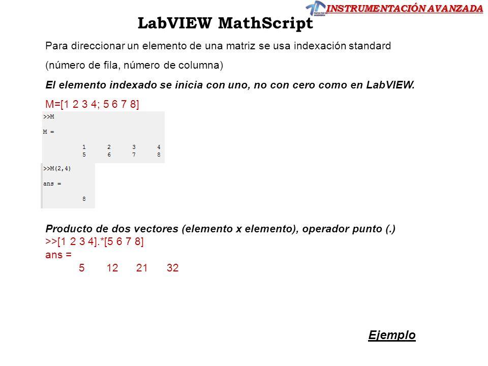 LabVIEW MathScript Ejemplo