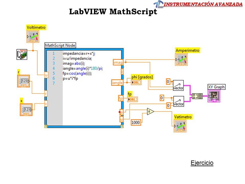 LabVIEW MathScript Ejercicio