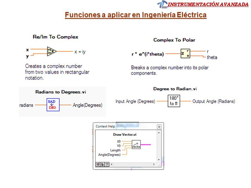 Funciones a aplicar en Ingeniería Eléctrica