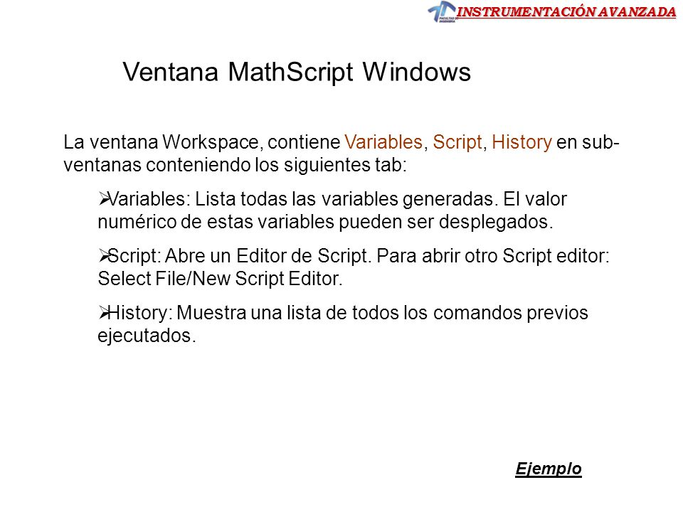 Ventana MathScript Windows