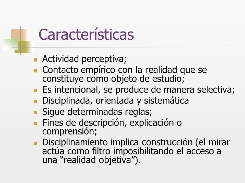 Características Actividad perceptiva;