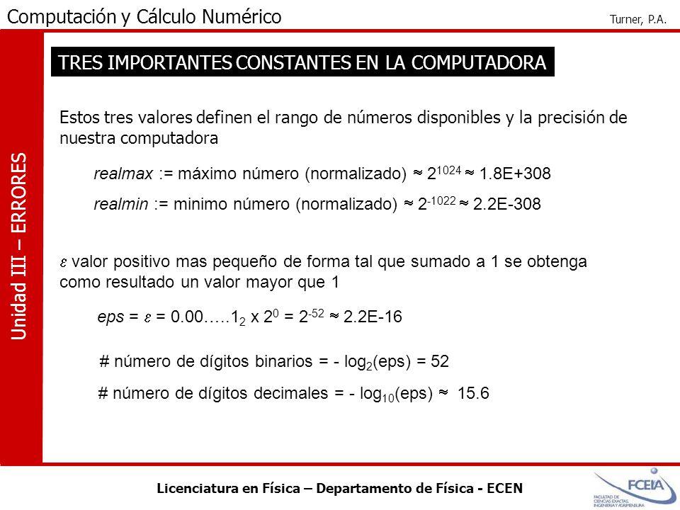 TRES IMPORTANTES CONSTANTES EN LA COMPUTADORA