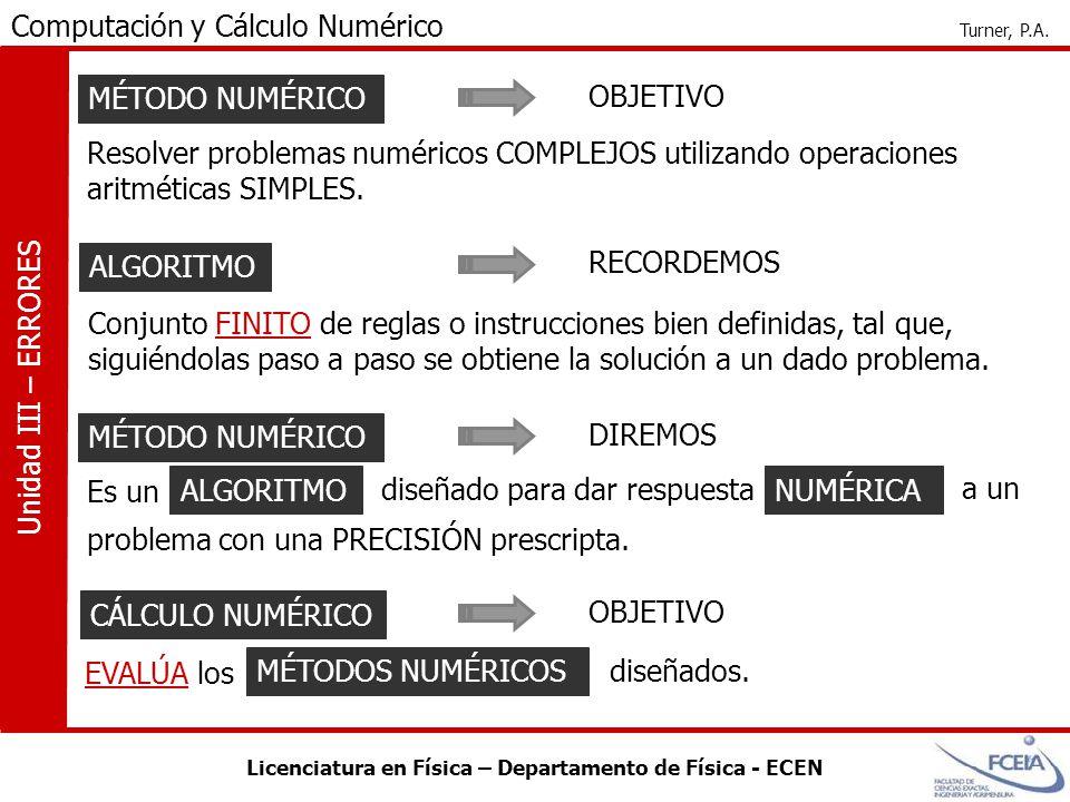 MÉTODO NUMÉRICO OBJETIVO. Resolver problemas numéricos COMPLEJOS utilizando operaciones aritméticas SIMPLES.