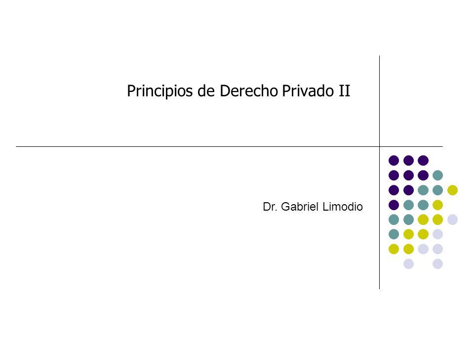 Principios de Derecho Privado II