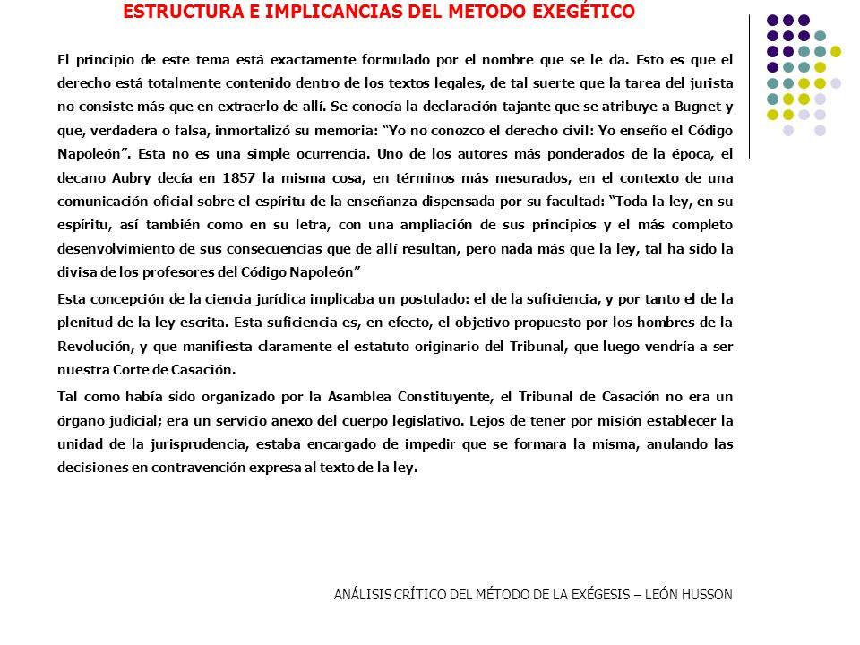 ESTRUCTURA E IMPLICANCIAS DEL METODO EXEGÉTICO