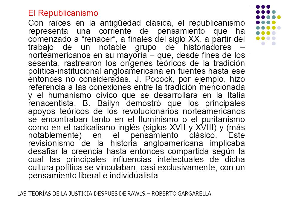 El Republicanismo