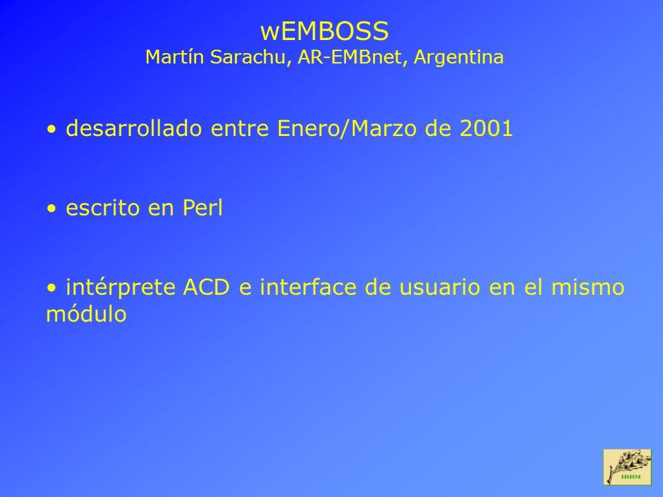Martín Sarachu, AR-EMBnet, Argentina