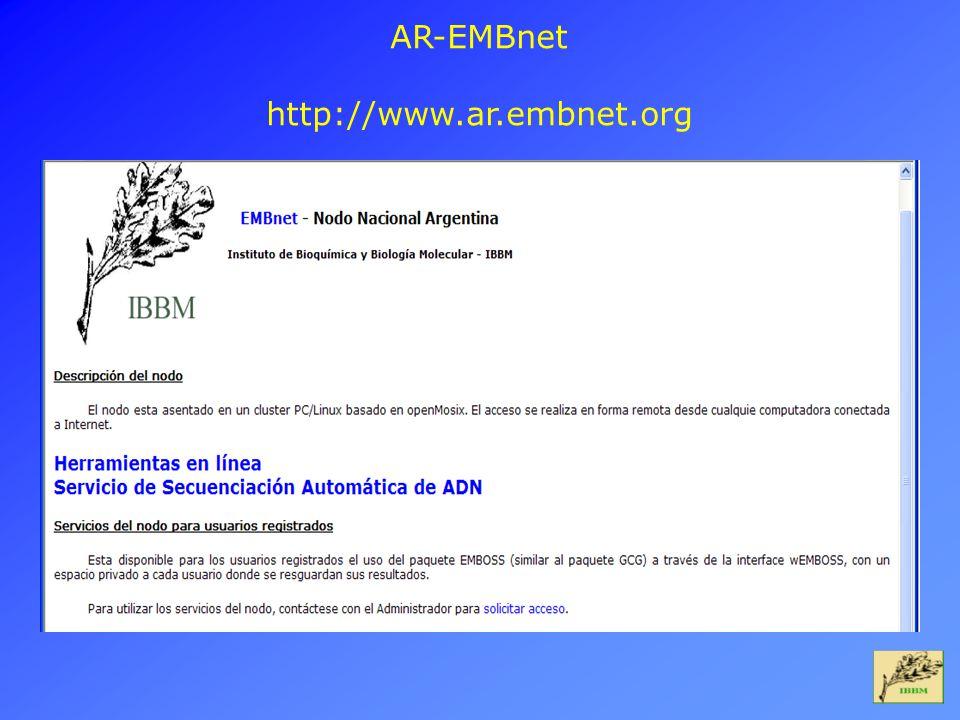 AR-EMBnet http://www.ar.embnet.org