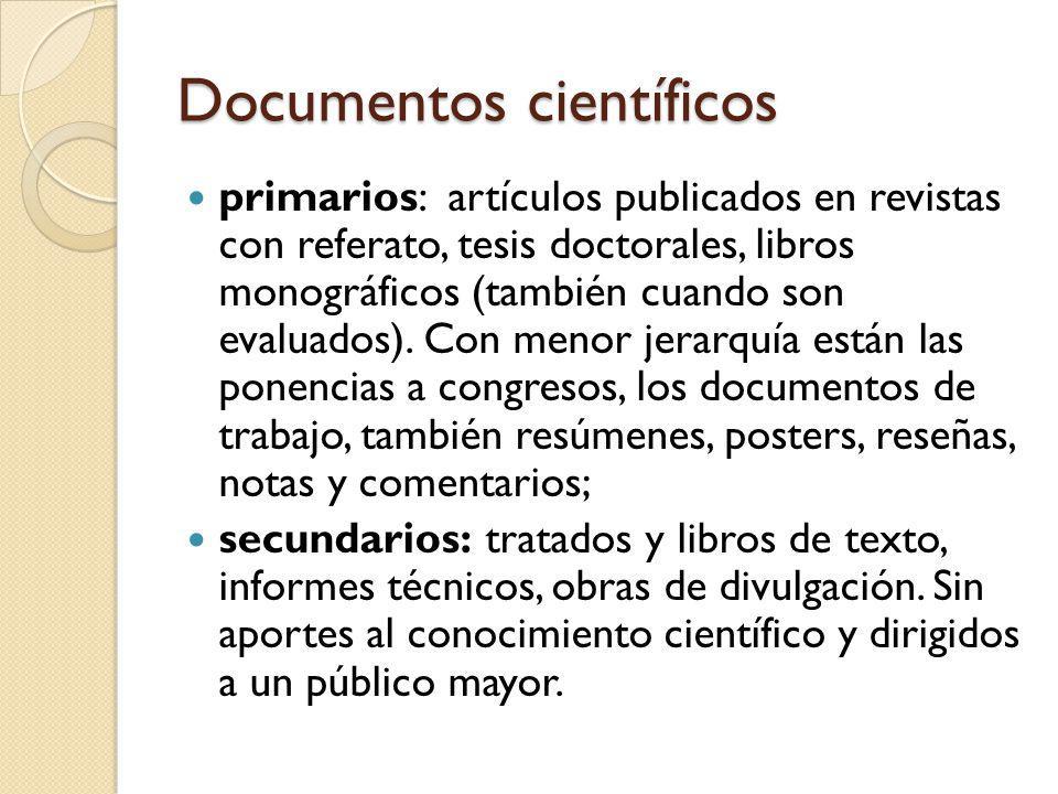 Documentos científicos