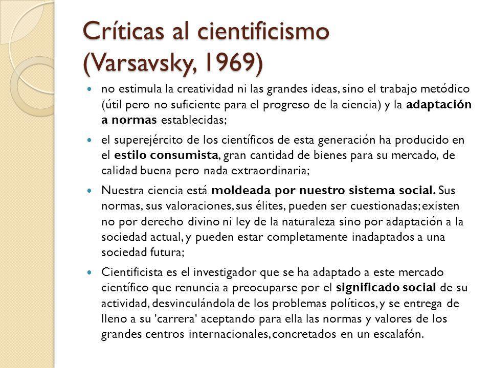 Críticas al cientificismo (Varsavsky, 1969)