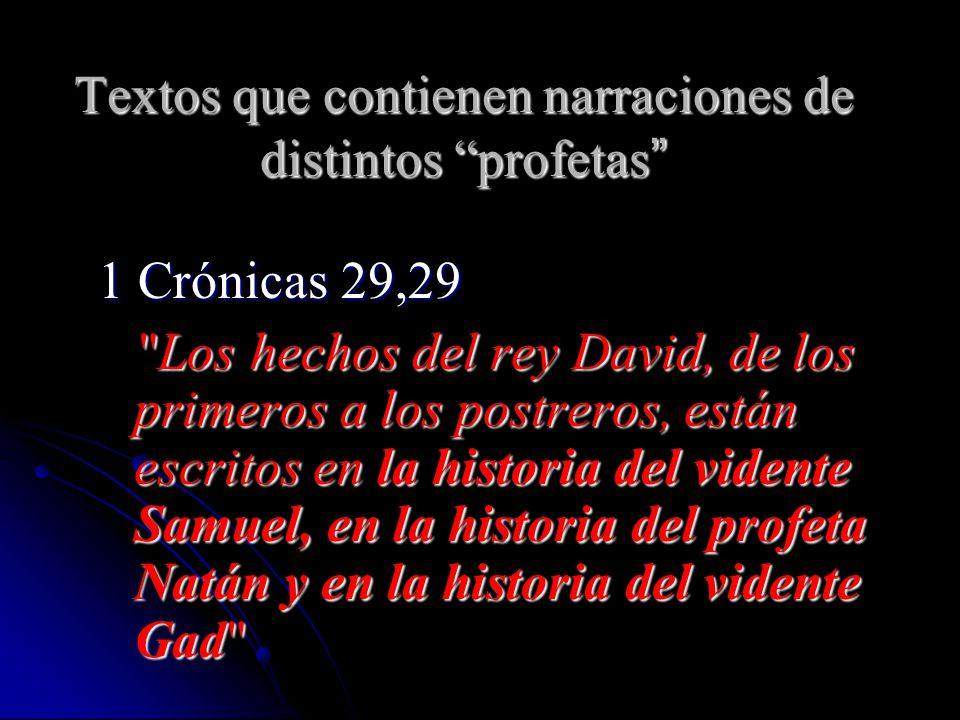Textos que contienen narraciones de distintos profetas