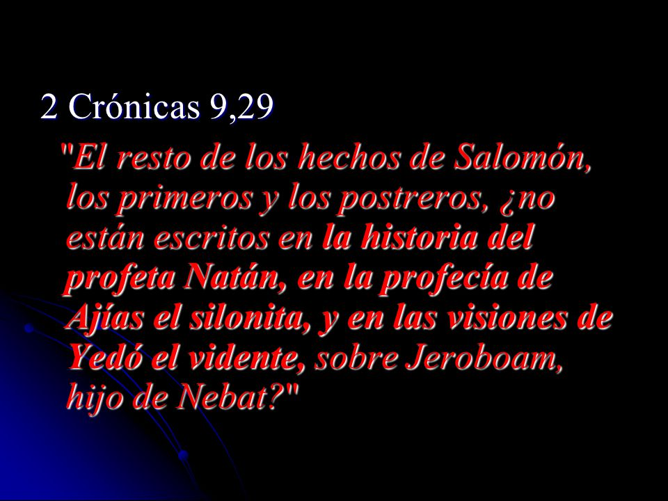 2 Crónicas 9,29