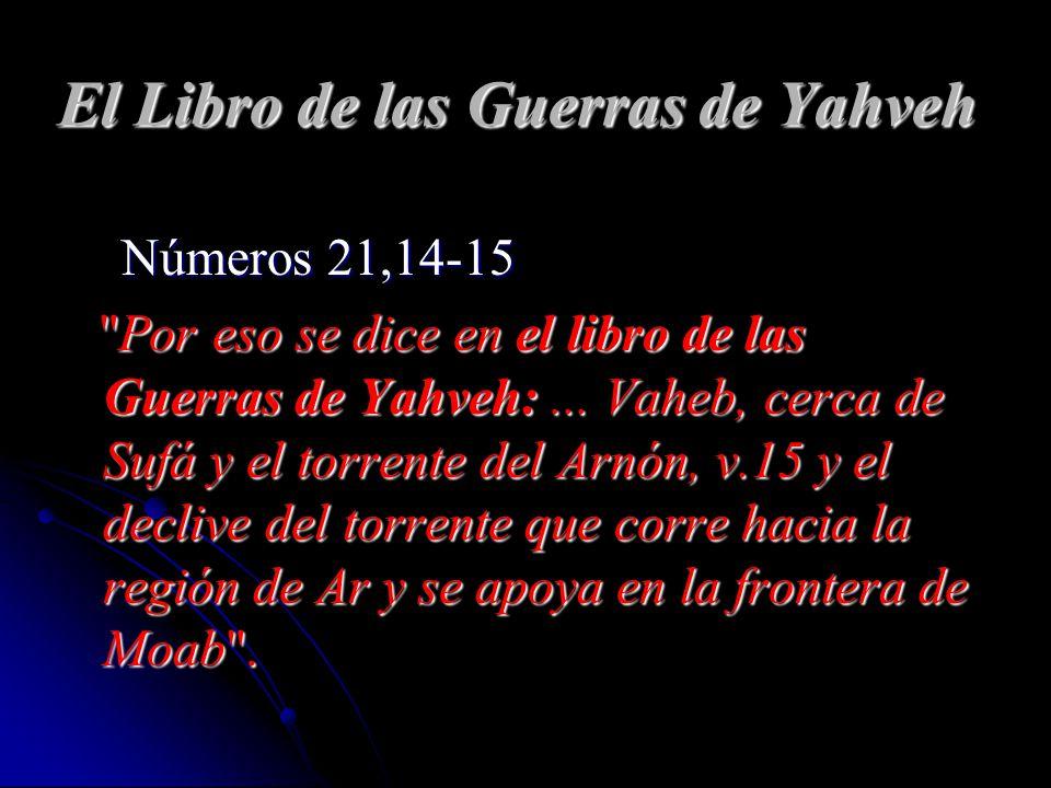 El Libro de las Guerras de Yahveh