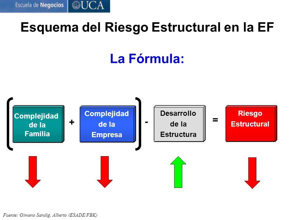 Esquema del Riesgo Estructural en la EF