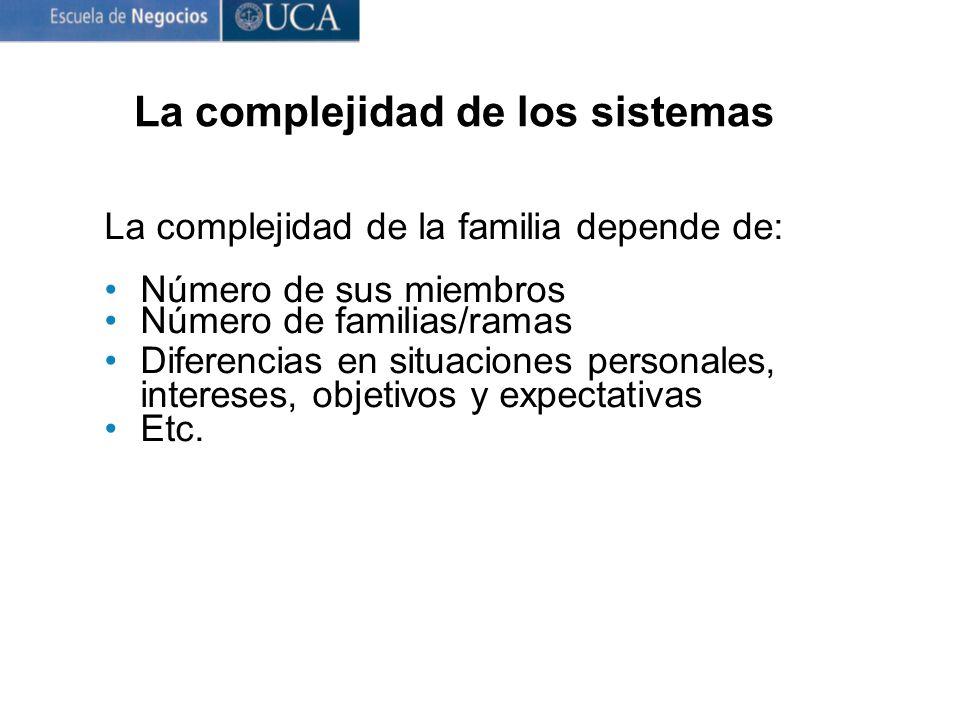 La complejidad de los sistemas