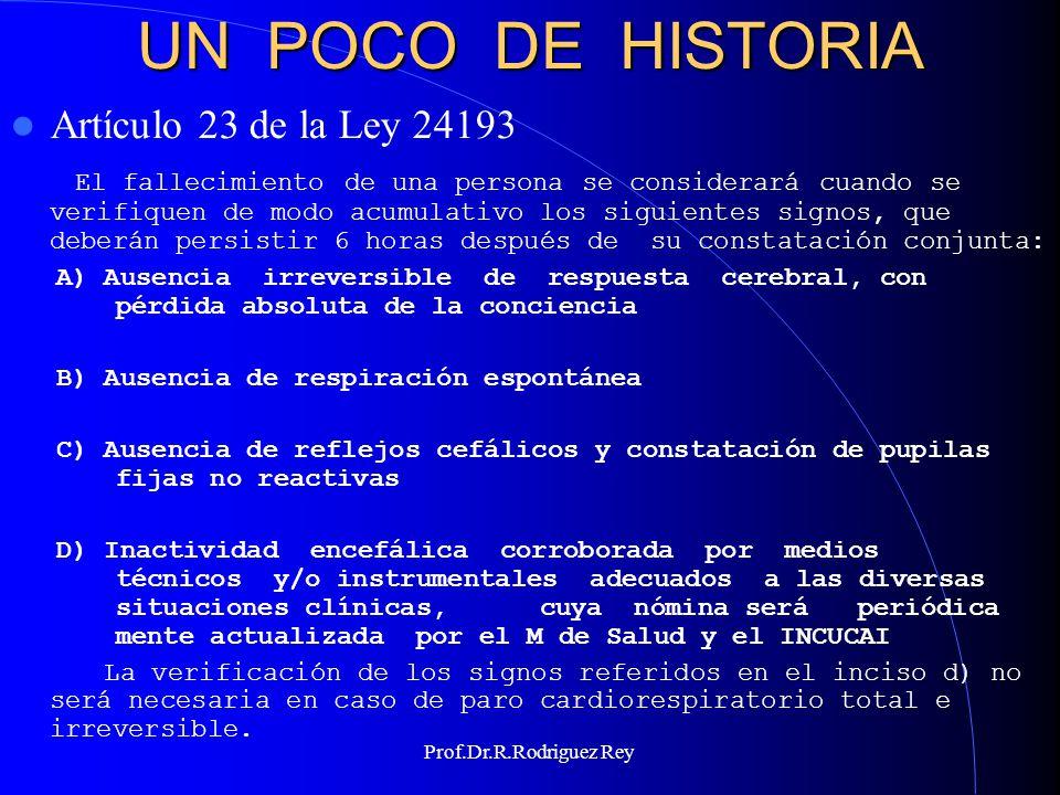 UN POCO DE HISTORIA Artículo 23 de la Ley 24193