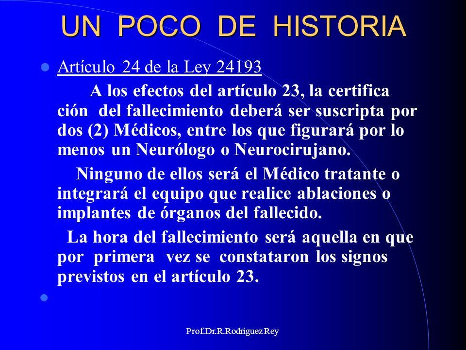 UN POCO DE HISTORIA Artículo 24 de la Ley 24193