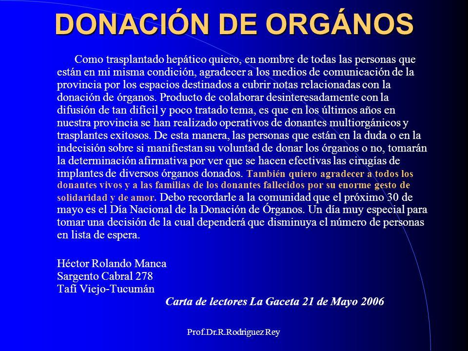 DONACIÓN DE ORGÁNOS
