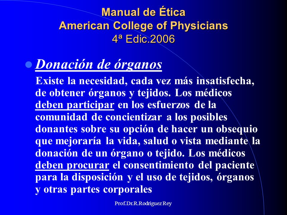 Manual de Ética American College of Physicians 4ª Edic.2006
