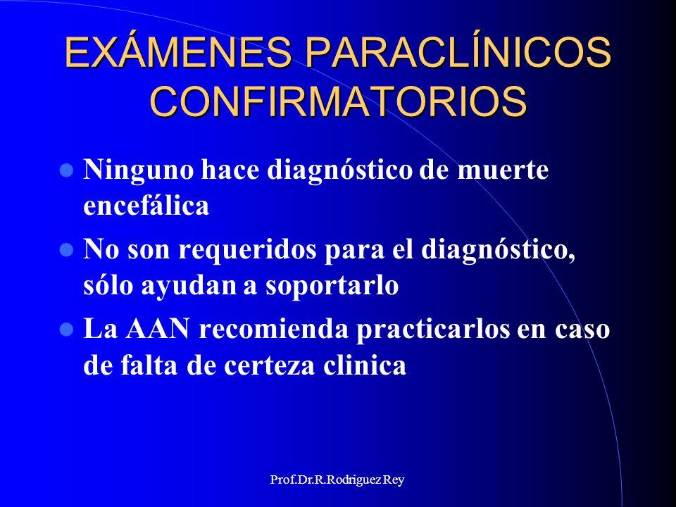 EXÁMENES PARACLÍNICOS CONFIRMATORIOS
