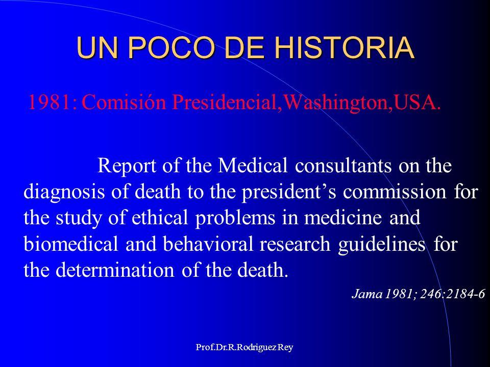 UN POCO DE HISTORIA 1981: Comisión Presidencial,Washington,USA.