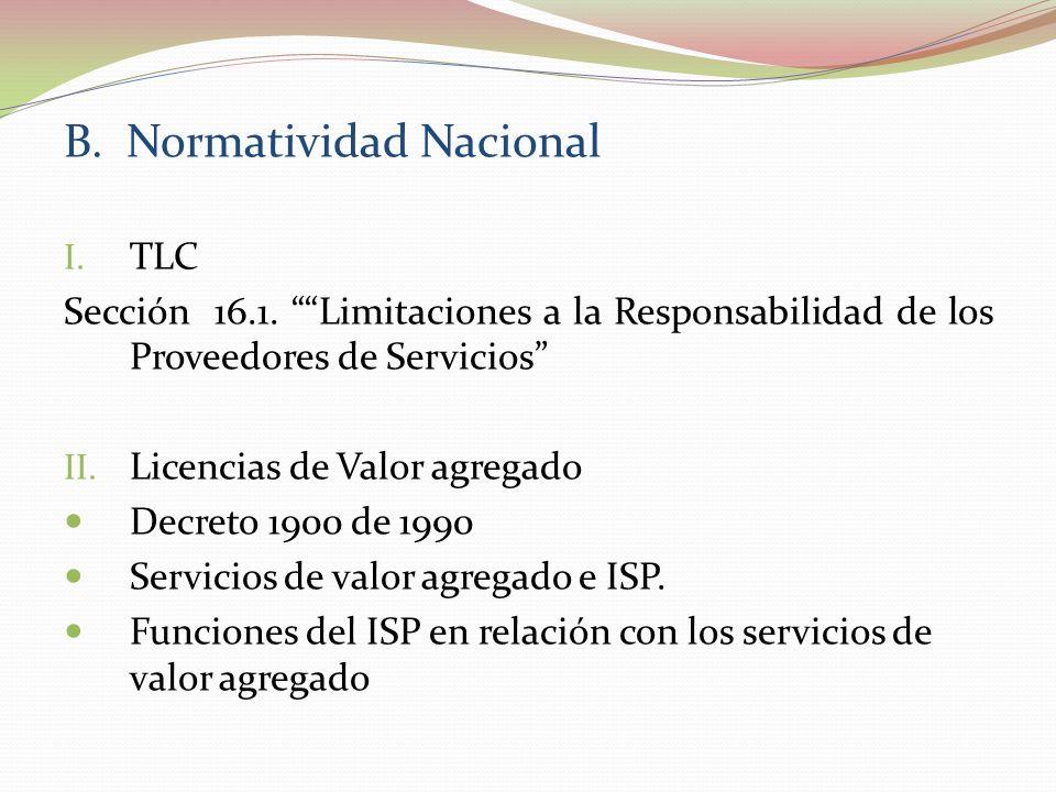 B. Normatividad Nacional