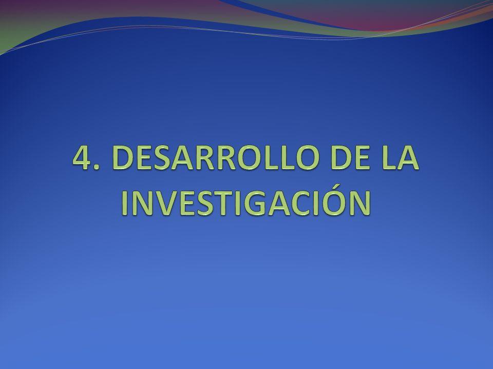 4. DESARROLLO DE LA INVESTIGACIÓN
