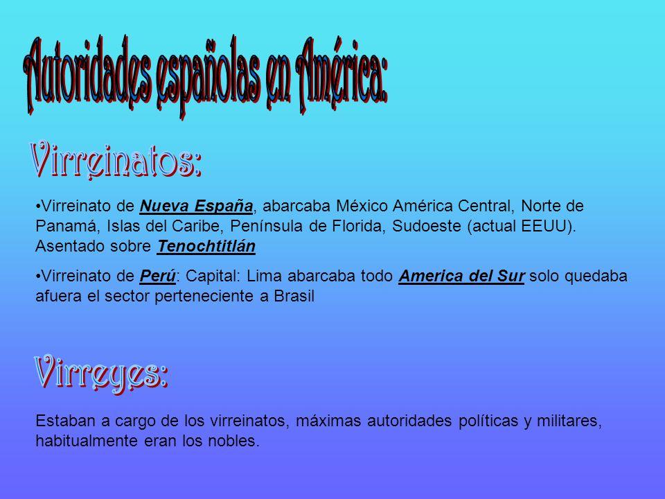 Autoridades españolas en América: