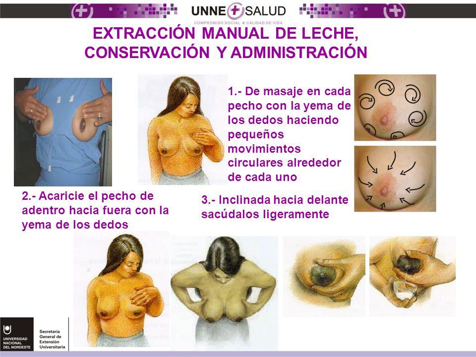 EXTRACCIÓN MANUAL DE LECHE, CONSERVACIÓN Y ADMINISTRACIÓN