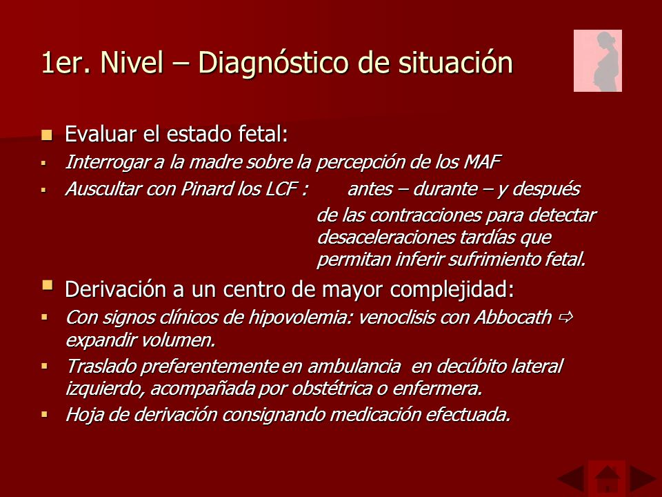 1er. Nivel – Diagnóstico de situación