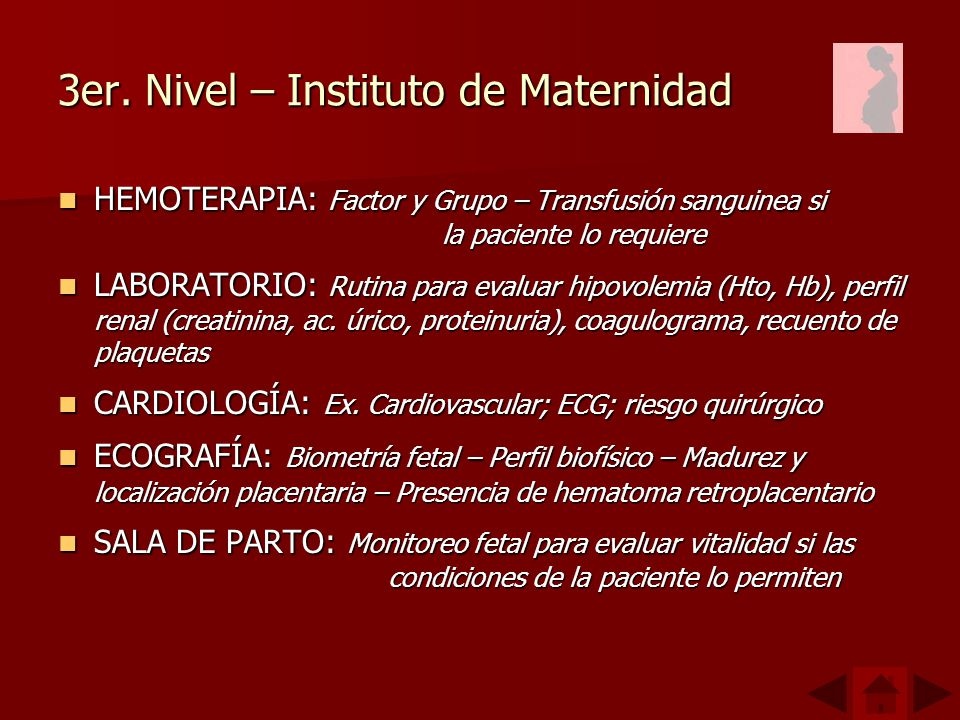 3er. Nivel – Instituto de Maternidad