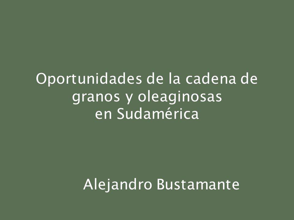 Oportunidades de la cadena de granos y oleaginosas en Sudamérica