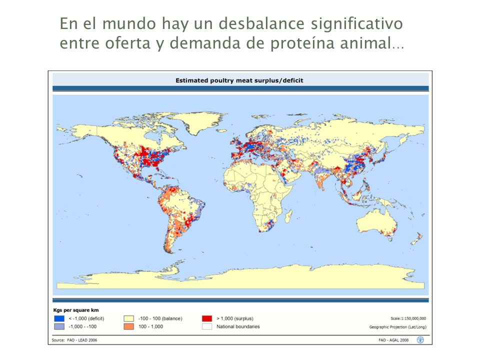 En el mundo hay un desbalance significativo entre oferta y demanda de proteína animal…