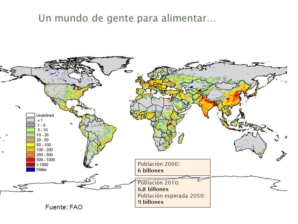 Un mundo de gente para alimentar…
