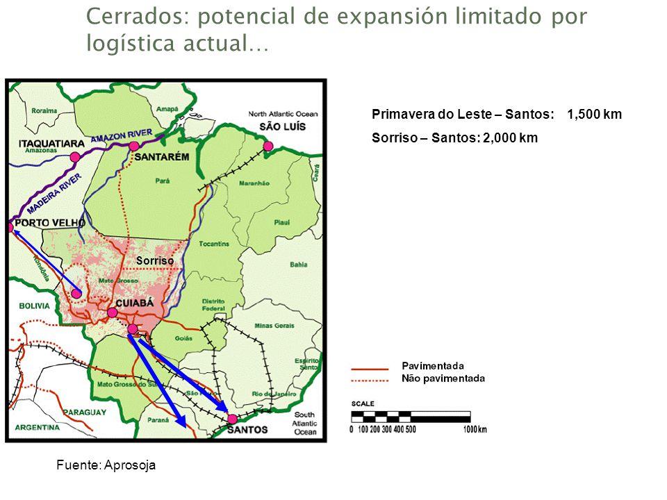 Cerrados: potencial de expansión limitado por logística actual…
