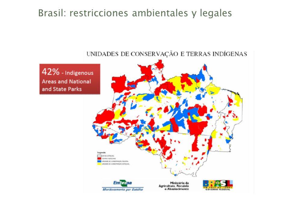 Brasil: restricciones ambientales y legales