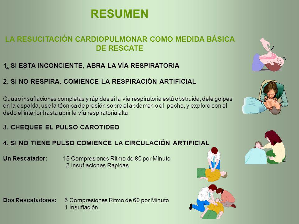 LA RESUCITACIÓN CARDIOPULMONAR COMO MEDIDA BÁSICA DE RESCATE