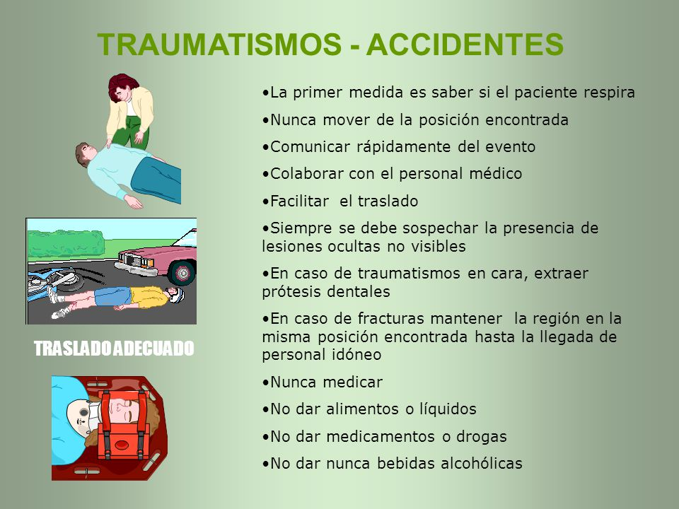 TRAUMATISMOS - ACCIDENTES
