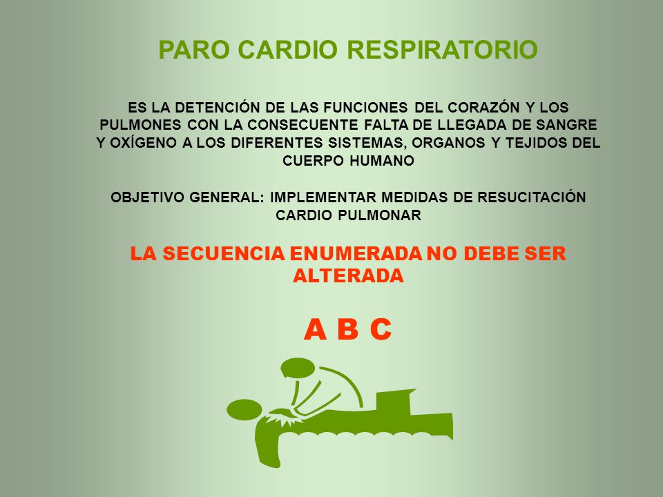A B C PARO CARDIO RESPIRATORIO