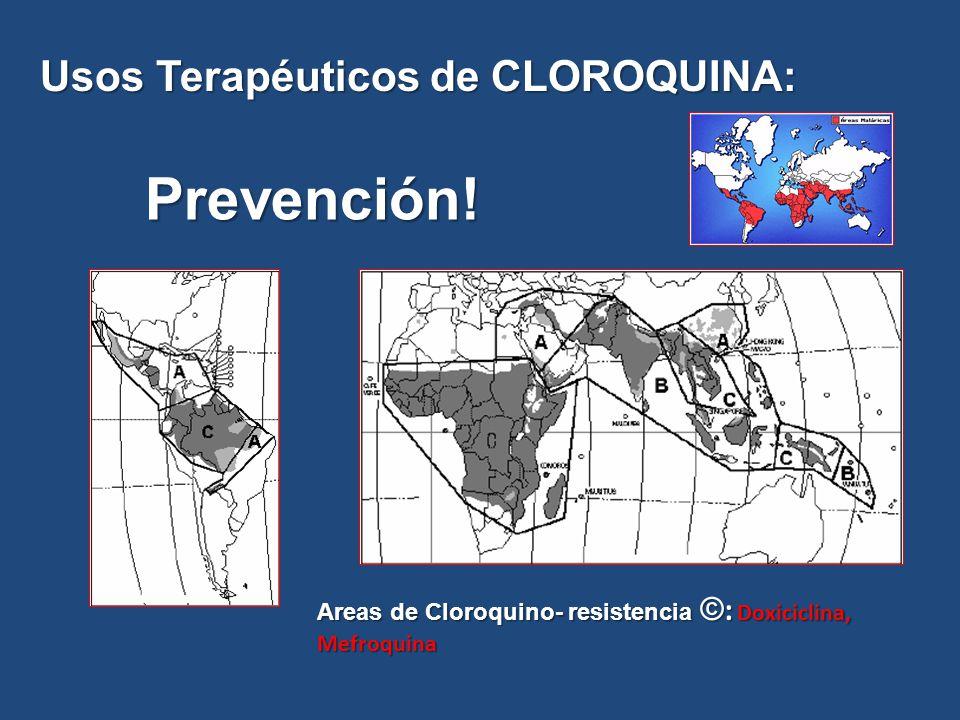 Prevención! Usos Terapéuticos de CLOROQUINA: