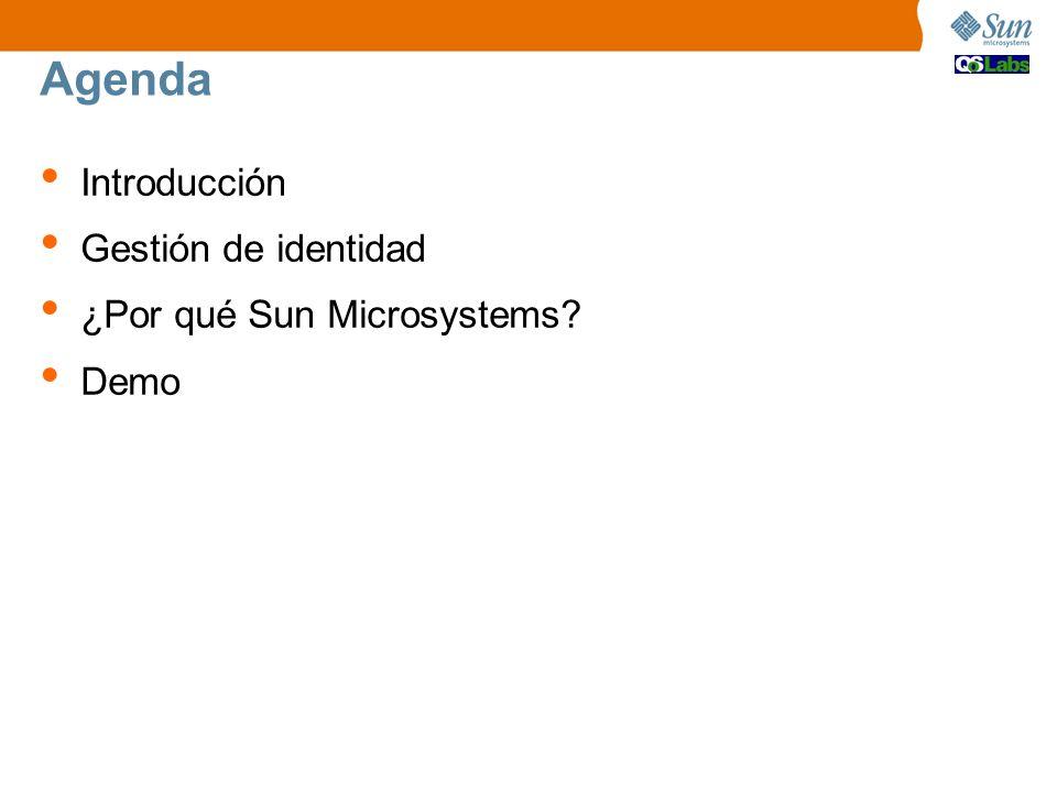Agenda Introducción Gestión de identidad ¿Por qué Sun Microsystems