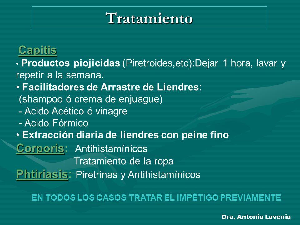 EN TODOS LOS CASOS TRATAR EL IMPÉTIGO PREVIAMENTE