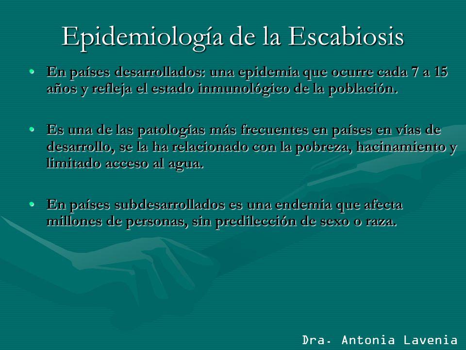 Epidemiología de la Escabiosis