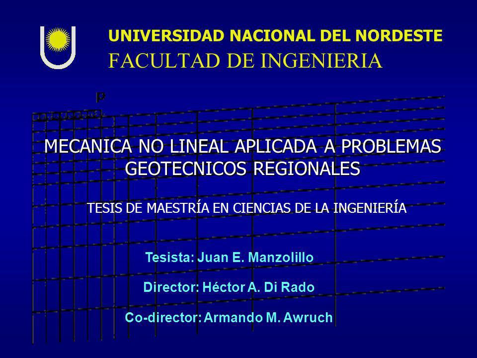 MECANICA NO LINEAL APLICADA A PROBLEMAS GEOTECNICOS REGIONALES