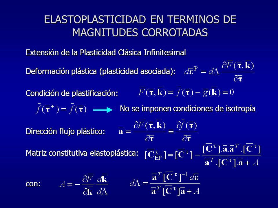 ELASTOPLASTICIDAD EN TERMINOS DE MAGNITUDES CORROTADAS