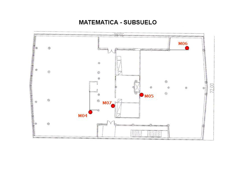 MATEMATICA - SUBSUELO M06 M05 M07 M04