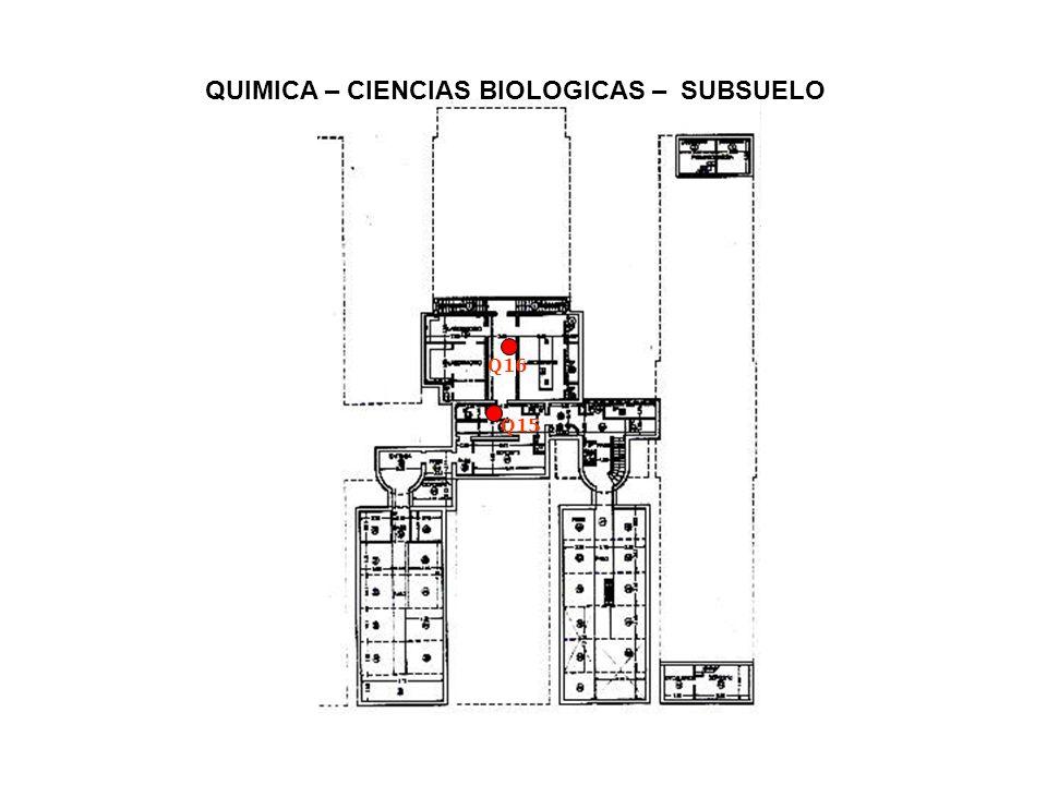 QUIMICA – CIENCIAS BIOLOGICAS – SUBSUELO