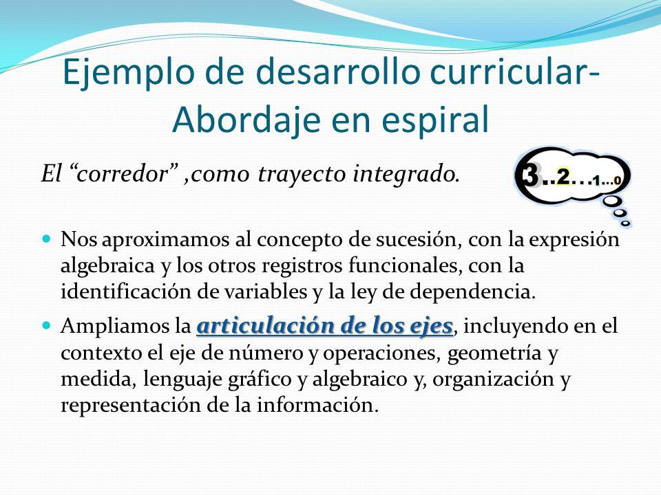Ejemplo de desarrollo curricular- Abordaje en espiral